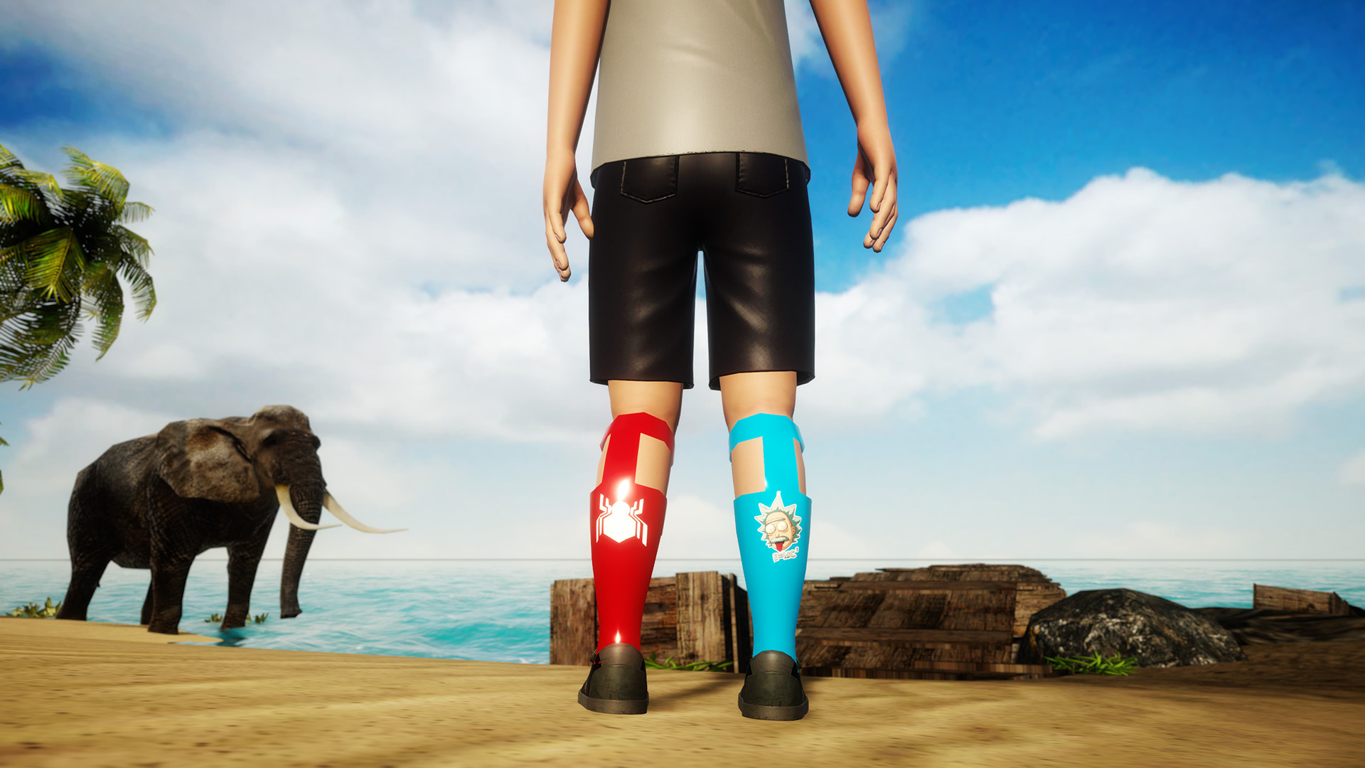 Datos en las dos piernas de Realy