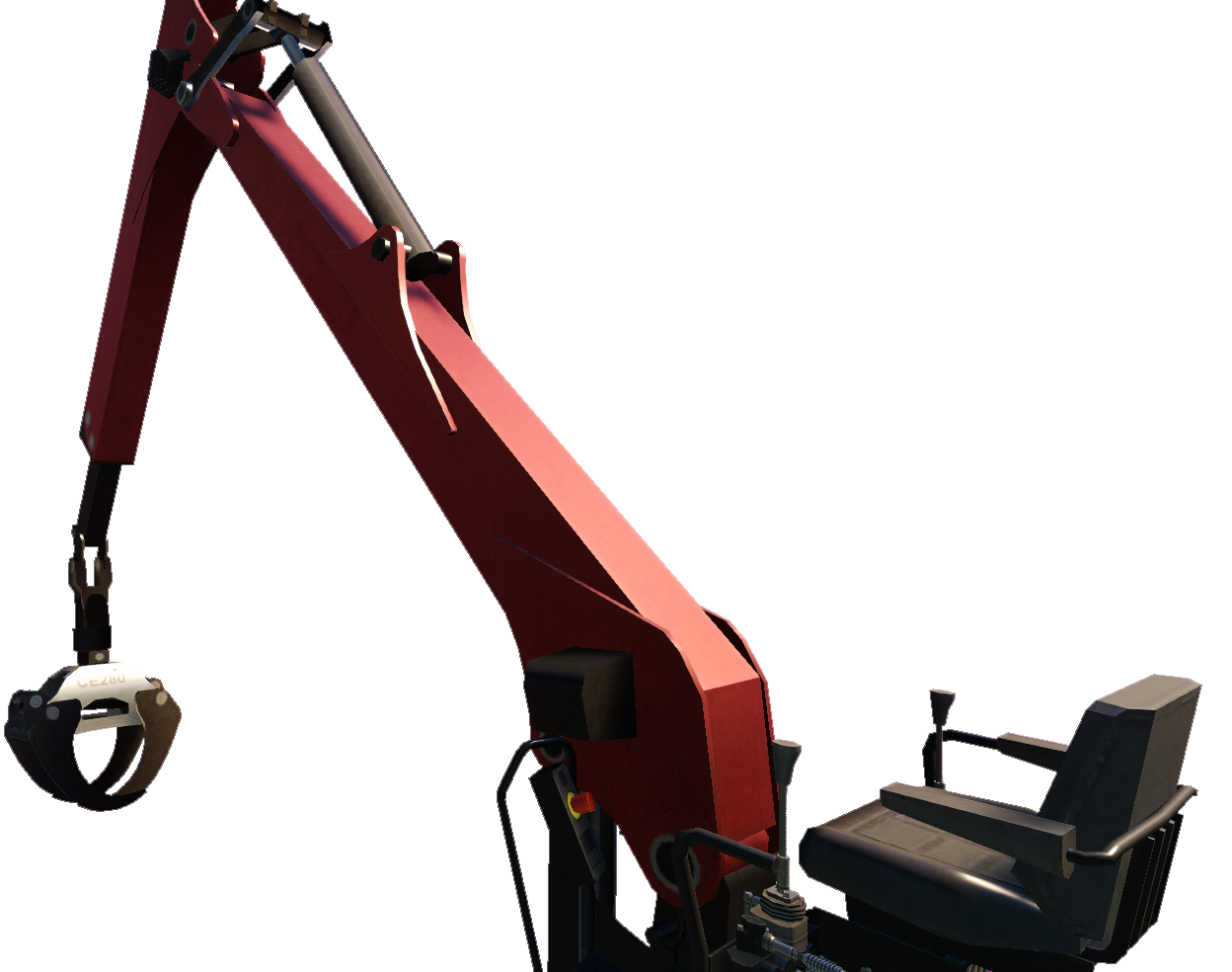 Grua carga de madera en aplicacion VR de prevención PsicoVR